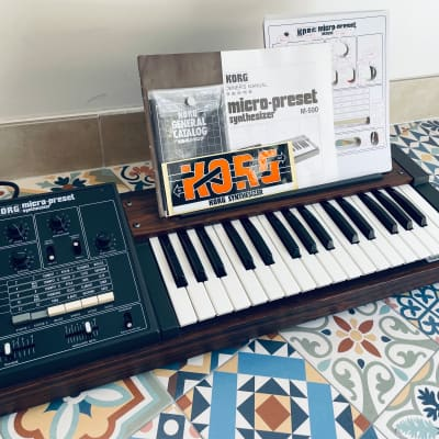Korg Micro Preset M-500 1977 GATE/CV mod, collector's pack