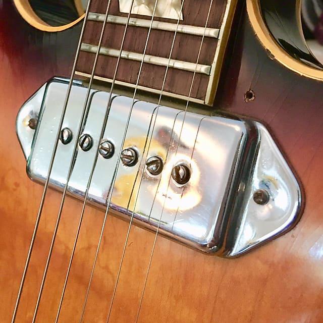 Gibson P-90 neck pickup cover c 1965  Chrome es330 epiphone casino Al  Caiola original vintage usa kalamazoo