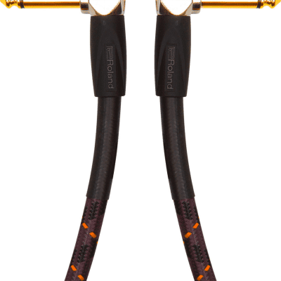 Roland RIC-G3AA Gold Series 3ft Instrument Cable with Angled to Angled 1/4 in. Jack