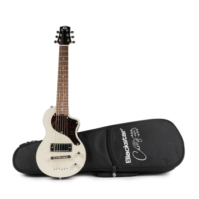 Blackstar Carry On 6-String Electric Travel Guitar, White Finish