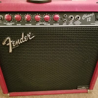 Fender Champ 12 red knob  1988 red snakeskin for sale