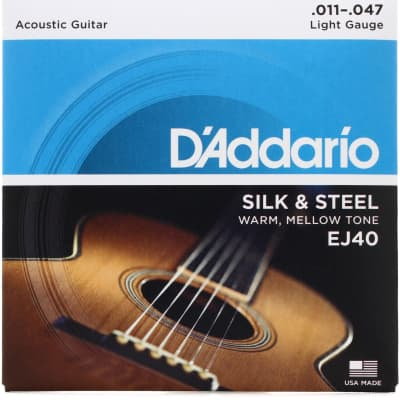 D'Addario EJ40 Silk & Steel Folk Guitar Strings 11-47
