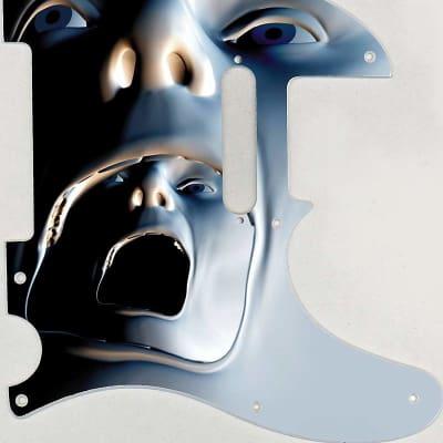 Graphical pickguard Fender Telecaster Tele Standard 8 Hole Facial Escape