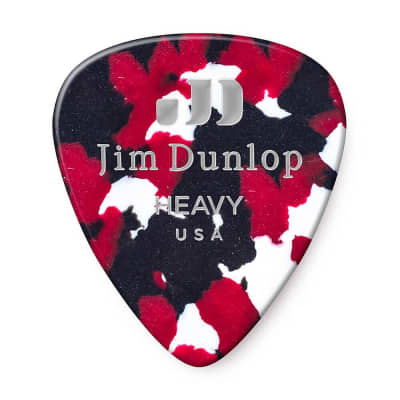 Dunlop 483R06HV Celluloid Standard Classics Heavy Guitar Picks (72-Pack)