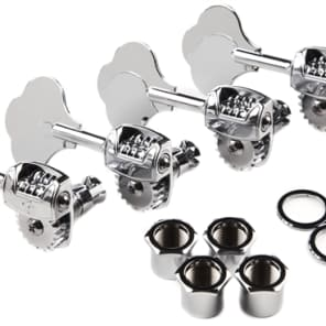 """Fender 009-7336-049 American Deluxe Jazz/Precision Bass """"F"""" Tuning Heads Left-Handed (4)"""