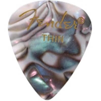 Fender Abalone Thin Picks, 12-pack for sale
