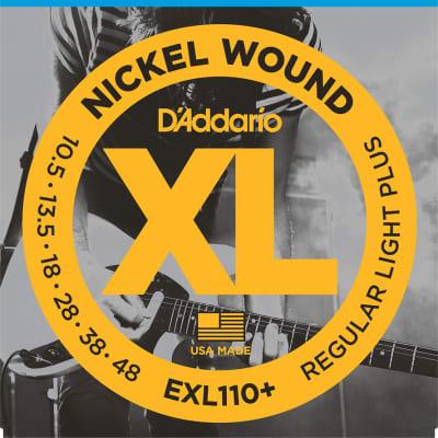 D'Addario Regular Light Plus, 10.5-48, Electric Guitar Strings EXL110+