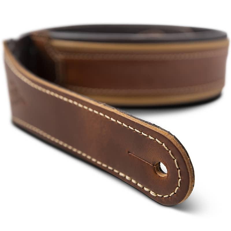 Taylor Century Strap (500 Series), Medium Brown/Butterscotch/Black Leather, 2.5