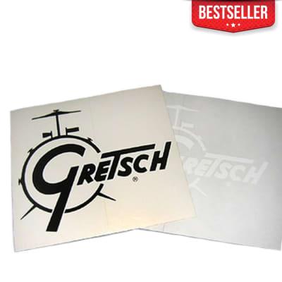 Gretsch Drum Logo Decal in Gold Sparkle