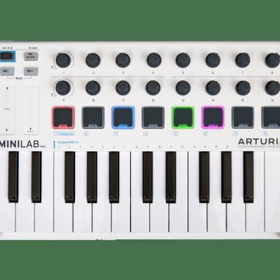 Arturia MiniLab MKII Controller MIDI USB 25 Keys Mini 16 Encoder 16 Pad