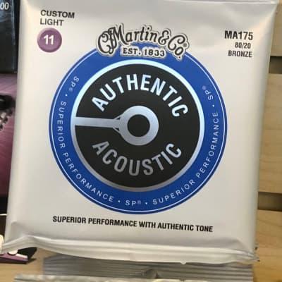 Martin MA175 Authentic Acoustic SP 80/20 Bronze Acoustic Guitar Strings - Custom Light (.11 - .52)