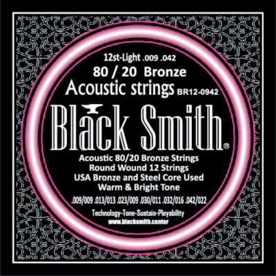 BLACKSMITH Acoustic 12 String Set - Light 009 - 042