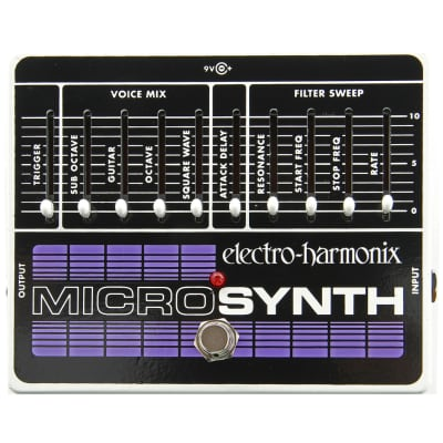 Electro-Harmonix Microsynth Synthesizer Guitar Effects Pedal