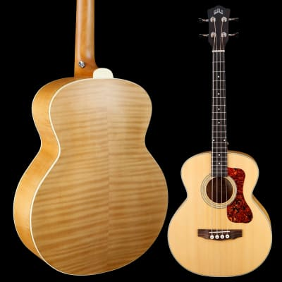 Guild Jumbo Junior Bass, Flame Maple B/S 967 4lbs 0.3oz for sale