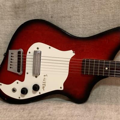Alamo Fiesta 1960's Redburst Electric Guitar + OHSC Hard Case for sale