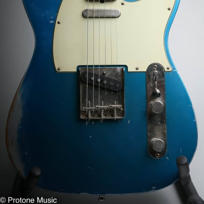 42nd Street Guitars Broadway 6 Tele Relic Lake Placid Blue over Inca Silver 2012 Lake Placid Blue for sale