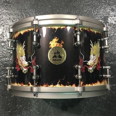 ddrum Vinnie Paul Signature Model   Custom Dragon Wrap