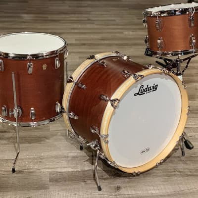 Ludwig Legacy Mahogany 3pc Super Classic Drum Set Satin Mahogany DEMO MODEL