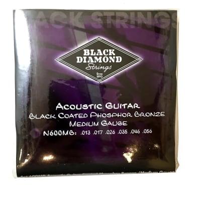 Black Diamond Guitar Strings Acoustic Medium Black Coated 13-56 for sale