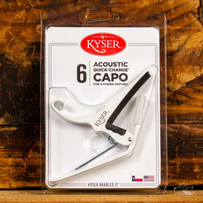 Kyser Quick-Change Capo for Acoustic or Electric Guitar - White