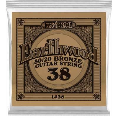 Ernie Ball P01438 .038 Earthwood 80/20 Bronze Acoustic Guitar String