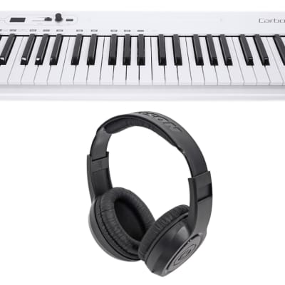 Samson Carbon 49 Key USB MIDI DJ Keyboard Controller + Software + Headphones