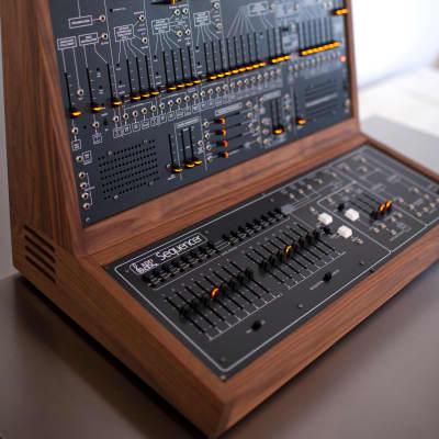 The Human Comparator TTSH + 1601  sequencer 2021  Walnut cabinet modular eurorack arp 2600