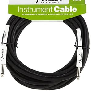Fender Performance Series Electric Guitar Cable, Straight Ends, 25' for sale