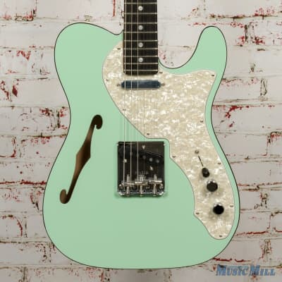 Fender Limited Edition 2-Tone Telecaster Thinline Ebony Fingerboard Seafoam Green x6742