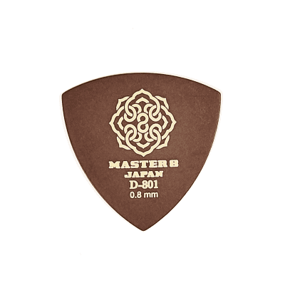 Master 8 Japan D-801 Duracon Standard Large Triangle Guitar Picks Medium 0.8mm 6-Pack