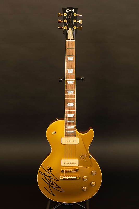 gibson les paul gold top 100th anniversary signed by slash in reverb. Black Bedroom Furniture Sets. Home Design Ideas