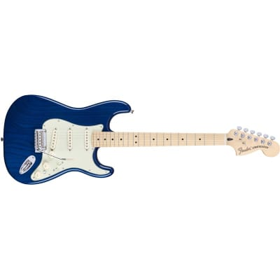 Fender Deluxe Stratocaster Sapphire Blue Transparent, Maple for sale