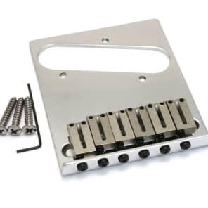 Fender 099-0807-100 Modern Fender Chrome American Tele Guitar Telecaster Bridge