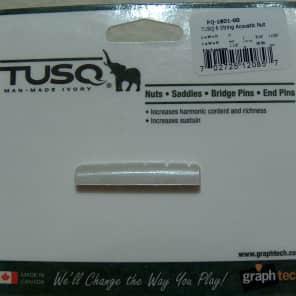 "Graph Tech PQ-1801-00 TUSQ 1-1/2"" E-to-E Slotted Acoustic Guitar Nut"