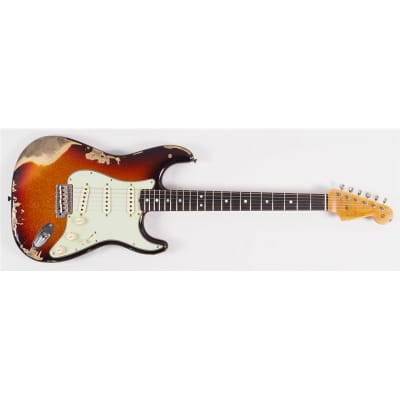 Fender Stratocaster Custom Shop Limited Edition '65 Heavy Relic Aged Three Tone Sunburst Sparkle Second Hand for sale