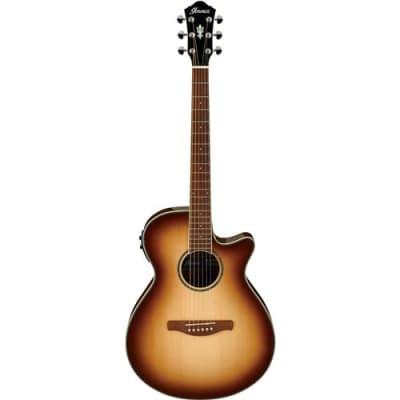 Ibanez AEG10II Acoustic Electric Guitar, Natural Browned Burst, High Gloss