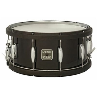 Gretsch Maple Snare Drum with Contoured Wood-Metal Hoops 14x6.5 Black - Liquidation Deal!