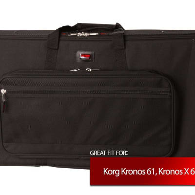Gator Cases Keyboard Case for Korg Kronos 61, Kronos X 61, O1WFD 61