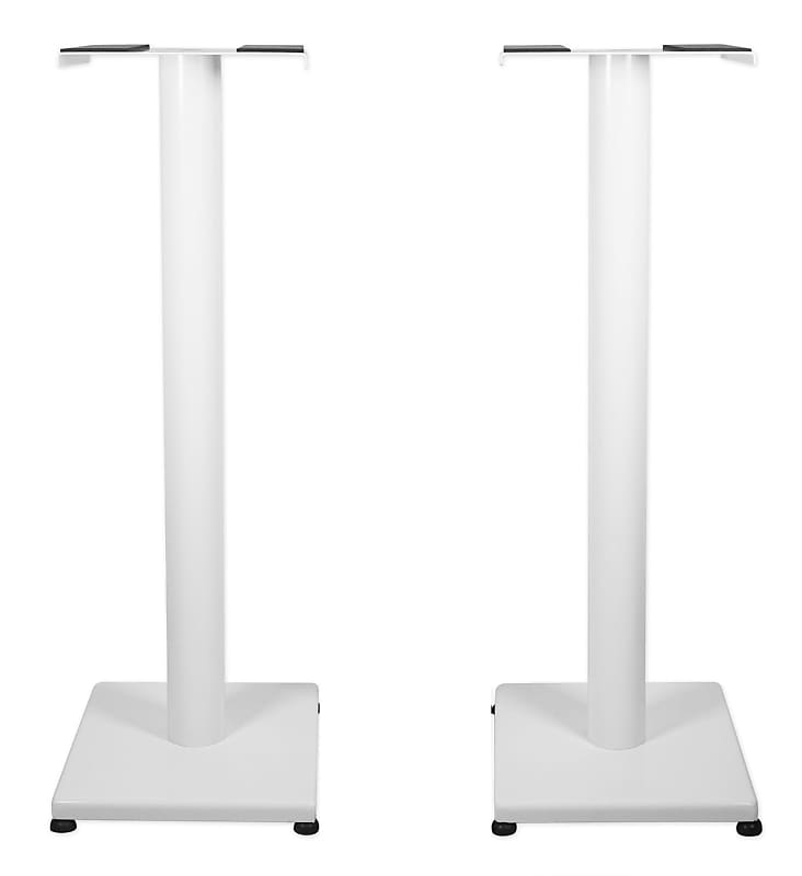 "Pair 29"" Steel White Stands For Focal Aria 906 Bookshelf Speakers"