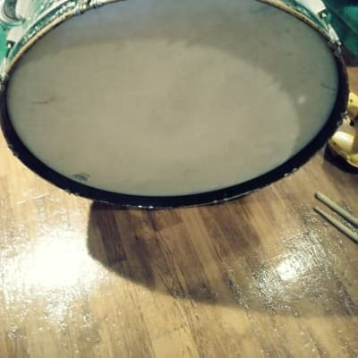 Ludwig 28x10 Marching Bass Drum  Black Diamond Pearl