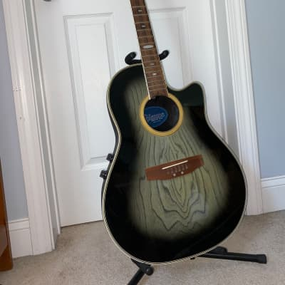 Applause AE-38 Electric/Acoustic Guitar (Hard Case Included)