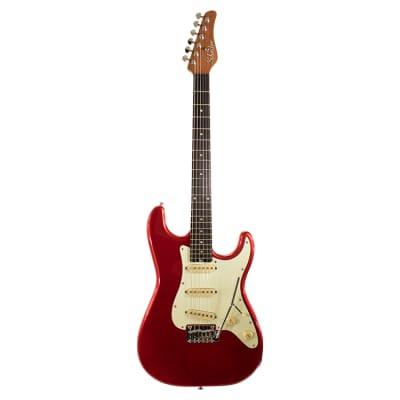 Schecter Traditional Route 66 Amarillo SSS Metal Red for sale