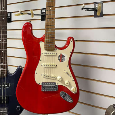 Indiana Strat-Style Electric Guitar Red for sale