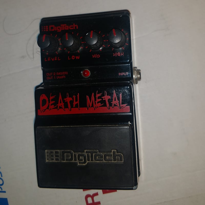 digitech death metal distortion pedal fritz worldwide reverb. Black Bedroom Furniture Sets. Home Design Ideas