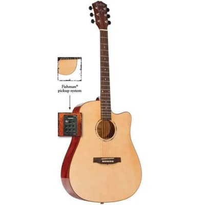 Monterey MW-715 Acoustic Guitar Dreadnought All-Solid w/ Fishman Pickup for sale