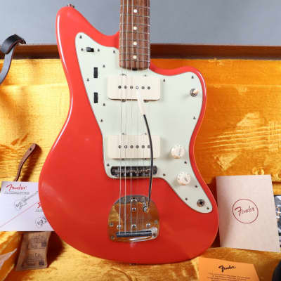 2001 Fender American Vintage '62 Jazzmaster Fiesta Red AVRI W/ Case Candy + Original Hardshell for sale