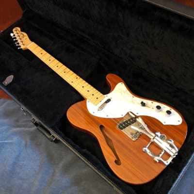 Fender TN-70 Thinline Telecaster Reissue MIJ 1985 Natural Mahogany Bigsby Palm Pedal for sale