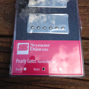 Seymour Duncan Pearly Gates Bridge & Neck Pickup Set Nickel 11108-49-NC
