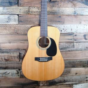 Recording King RD-06-12 06 Series Solid Top 12-String Dreadnought Natural Gloss