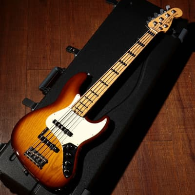 Fender American Elite Jazz Bass V 2015 TOBACCO SUNBURST for sale